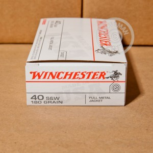 Picture of .40 S&W WINCHESTER USA 180 GRAIN FULL METAL JACKET (50 ROUNDS)