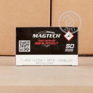 Picture of 300 AAC BLACKOUT MAGTECH FIRST DEFENSE 115 GRAIN HPFB (500 ROUNDS)
