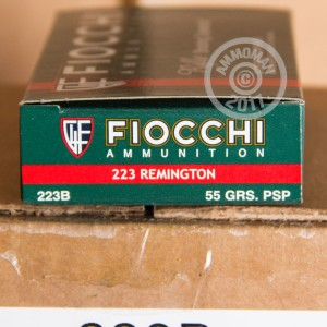 Picture of .223 REMINGTON FIOCCHI SHOOTING DYNAMICS 55 GRAIN PSP (20 ROUNDS)