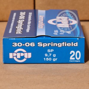 Picture of .30-06 SPRINGFIELD PRVI PARTIZAN 150 GRAIN SP (20 ROUNDS)
