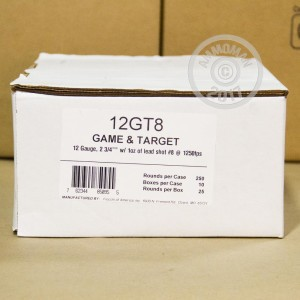 """Picture of 12 GAUGE FIOCCHI GAME AND TARGET 2-3/4"""" #8 SHOT (250 SHELLS)"""