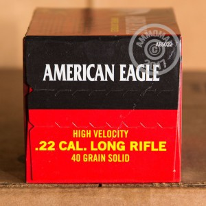 Picture of .22 LR FEDERAL AMERICAN EAGLE 40 GRAIN LEAD ROUND NOSE (5000 ROUNDS)