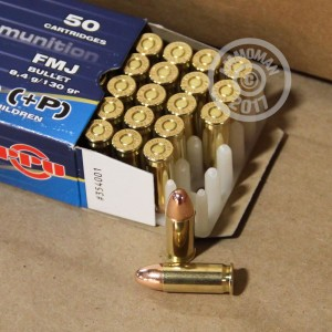 Picture of 38 SUPER +P PRVI PARTIZAN 130 GRAIN FULL METAL JACKET (500 ROUNDS)