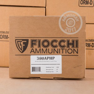 Picture of .380 ACP FIOCCHI 90 GRAIN JHP (1000 ROUNDS)