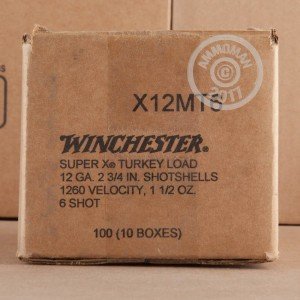 "Picture of 12 GAUGE WINCHESTER SUPER-X TURKEY 2-3/4"" 1-1/2 OZ. #6 SHOT (100 ROUNDS)"