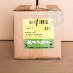 Picture of .45 ACP REMINGTON HTP SUBSONIC 230 GRAIN JHP (50 ROUNDS)