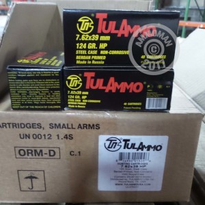 Picture of 7.62X39 TULAMMO 124 GRAIN HP (1000 ROUNDS)