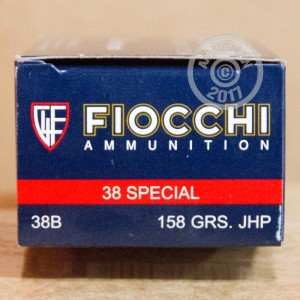 Picture of .38 SPECIAL FIOCCHI SHOOTING DYNAMICS 158 GRAIN JHP (50 ROUNDS)