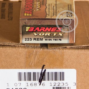 Photo of 223 Remington TSX ammo by Barnes for sale.
