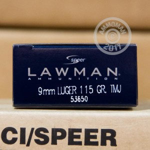 Picture of 9MM LUGER SPEER LAWMAN 115 GRAIN TMJ (50 ROUNDS)