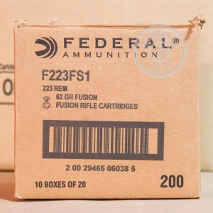 Image of 223 Remington ammo by Federal that's ideal for whitetail hunting.