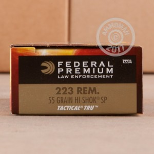 Picture of 223 REM FEDERAL LE TACTICAL 55 GRAIN SP (20 ROUNDS)