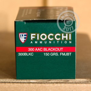 Picture of 300 AAC BLACKOUT FIOCCHI 150 GRAIN FMJ (500 ROUNDS)