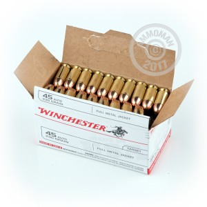 Picture of 45 ACP WINCHESTER USA 230 GRAIN FMJ (100 ROUNDS)