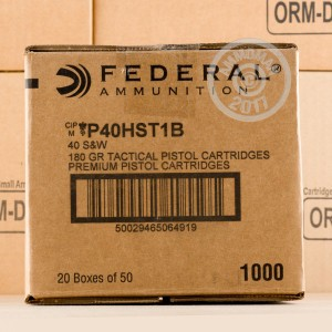 Picture of 40 S&W FEDERAL TACTICAL 180 GRAIN JHP (1000 ROUNDS)