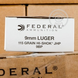Picture of 9MM LUGER FEDERAL CLASSIC 115 GRAIN JHP (50 ROUNDS)