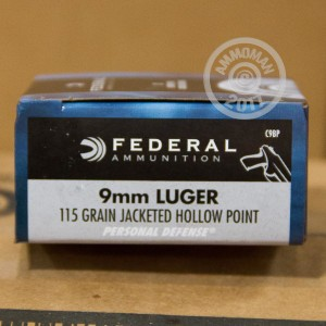 Picture of 9MM LUGER FEDERAL PERSONAL DEFENSE 115 GRAIN JHP (500 ROUNDS)