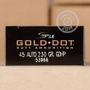 Picture of .45 ACP SPEER GOLD DOT 230 GRAIN JHP (50 ROUNDS)