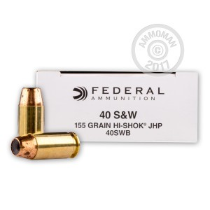 Picture of .40 S&W FEDERAL HI SHOK 155 GRAIN JHP (50 ROUNDS)