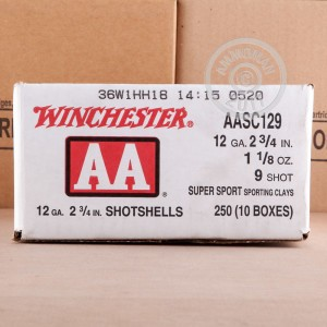"Picture of 12 GAUGE 2-3/4"" WINCHESTER SPORT CLAY 1-1/8 OZ  #9 AA (250 ROUNDS)"
