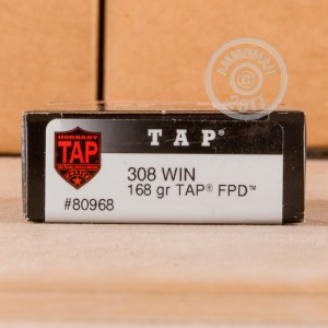 Picture of 308 WIN HORNADY TAP FPD 168 GRAIN POLYMER TIP (20 ROUNDS)