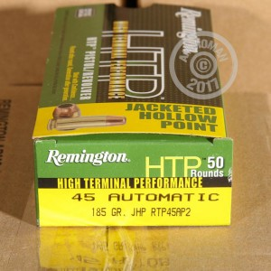 Picture of .45 ACP REMINGTON HTP 185 GRAIN JHP (500 ROUNDS)