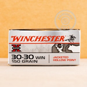 Image of 30-30 Winchester ammo by Winchester that's ideal for whitetail hunting.