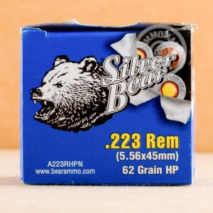 Picture of 223 REM SILVER BEAR 62 GRAIN HOLLOW POINT (20 ROUNDS)