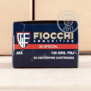 Picture of 38 SPECIAL FIOCCHI SHOOTING DYNAMICS 130 GRAIN FMJ (50 ROUNDS)