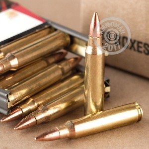 A photograph of 900 rounds of 55 grain 223 Remington ammo with a FMJ-BT bullet for sale.