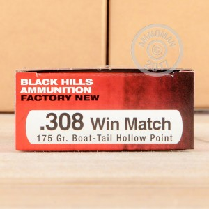 Picture of 308 WIN BLACK HILLS MATCH 175 GRAIN HP-BT (20 ROUNDS)