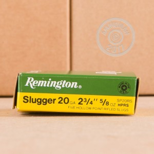"Picture of 20 GAUGE 2-3/4"" 5/8 OZ RIFLED SLUG (250 ROUNDS)"
