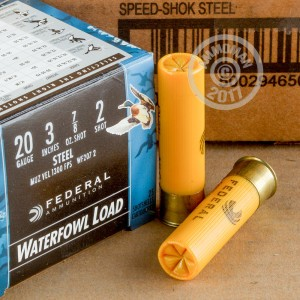 """Picture of 20 GAUGE FEDERAL SPEED-SHOK 3"""" 7/8 OZ #2 SHOT (25 ROUNDS)"""