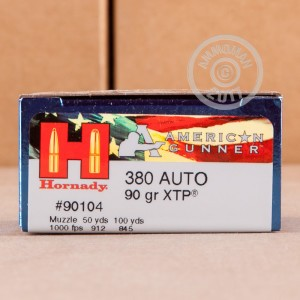 Photo of .380 Auto JHP ammo by Hornady for sale at AmmoMan.com.