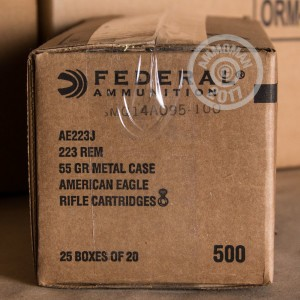 Picture of .223 REMINGTON 55 GRAIN FEDERAL AE #AE223J (500 ROUNDS)