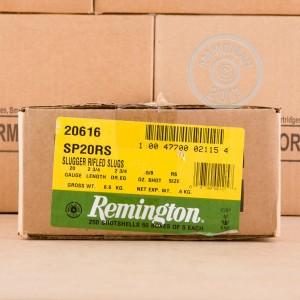 "Picture of 20 GAUGE REMINGTON SLUGGER 2-3/4"" 5/8 OZ RIFLED SLUG (5 ROUNDS)"