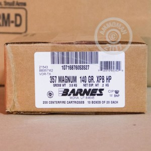 Picture of .357 MAGNUM BARNES VOR-TX 140 GRAIN XPB HP (20 ROUNDS)