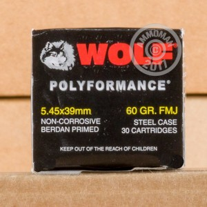 Picture of 5.45X39MM WOLF POLYFORMANCE WPA 60 GRAIN FMJ (750 ROUNDS)