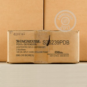 Picture of 7.62X39 WINCHESTER PDX1 DEFENDER 120 GRAIN HP (20 ROUNDS)