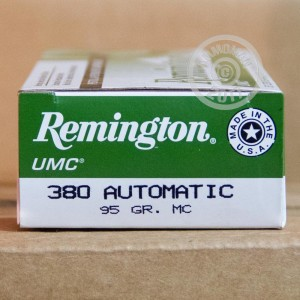 Picture of 380 ACP REMINGTON UMC 95 GRAIN MC (50 ROUNDS)