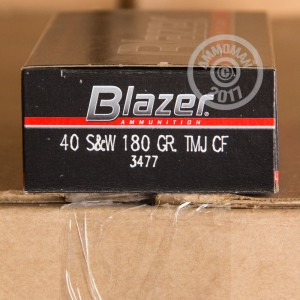 Picture of 40 S&W BLAZER CLEANFIRE 180 GRAIN TMJ (50 ROUNDS)