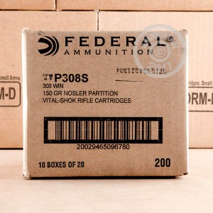 Picture of 308 WIN FEDERAL VITAL-SHOK 150 GRAIN NOSLER PARTITION (20 ROUNDS)