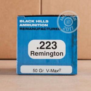 Picture of 223 REMINGTON BLACK HILLS REMANUFACTURED 50 GRAIN V-MAX (50 ROUNDS)