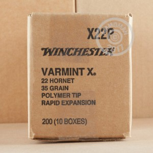 Picture of 22 HORNET WINCHESTER VARMINT-X 35 GRAIN POLYMER TIP (20 ROUNDS)