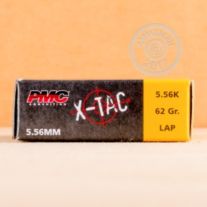 Picture of 5.56x45MM PMC X-TAC GREEN TIP M855 NATO 62 GRAIN FULL METAL JACKET (1000 ROUNDS)