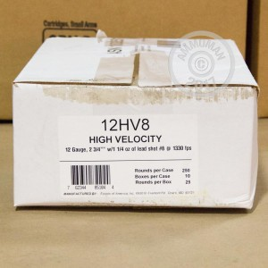 """Picture of 12 GAUGE FIOCCHI OPTIMA SPECIFIC HV 2-3/4"""" 1-1/4 OZ. #8 SHOT (250 ROUNDS)"""