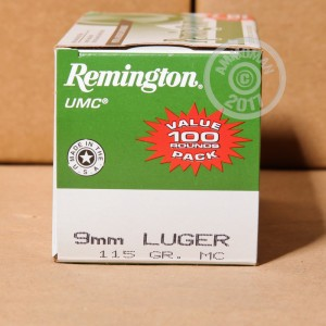 Picture of 9MM LUGER REMINGTON UMC 115 GRAIN MC (600 ROUNDS)
