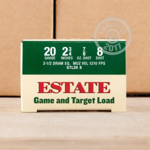 """Picture of 20 GAUGE ESTATE GAME AND TARGET 2-3/4"""" 7/8 OZ. #8 SHOT (25 ROUNDS)"""