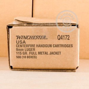 Picture of 9MM LUGER WINCHESTER 115 GRAIN FMJ (50 ROUNDS)