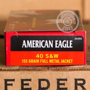 Picture of 40 S&W FEDERAL 155 GRAIN FULL METAL JACKET (1000 ROUNDS)